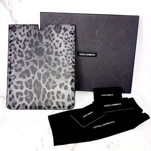 NEW Dolce and gabbana leopard tablet case w box